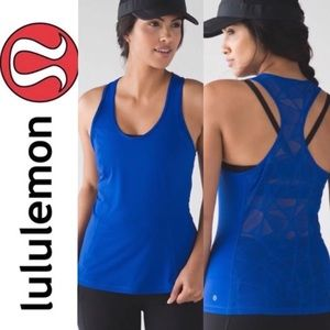 Lululemon blue goal crusher racerback tank top